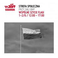 Wspólne szycie flagi