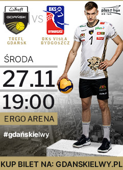 Siatkówka mężczyzn: TREFL Gdańsk - Visła Bydgoszcz