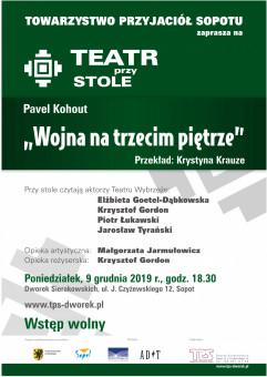 Teatr przy Stole: Pavel Kohout Wojna na trzecim piętrze
