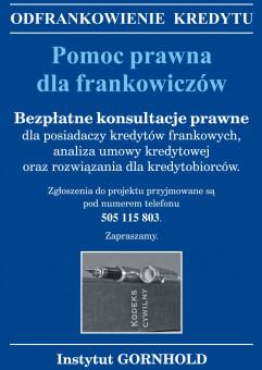 Bezpłatne porady prawne dla frankowiczów