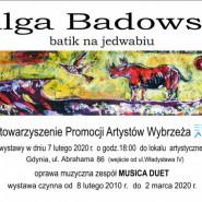 Wilga Badowska: Batik na jedwabiu - wernisaż
