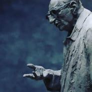 Odsłonięcie pomnika W. Bartoszewskiego