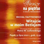 Wiersze na Piętrze   Spotkanie autorskie z Michałem Fałtynowiczem