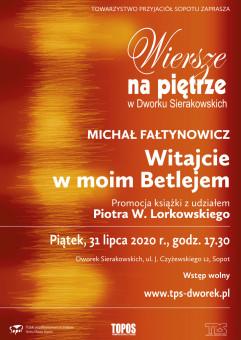 Wiersze na Piętrze | Spotkanie autorskie z Michałem Fałtynowiczem