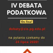 IV Debata podatkowa - online