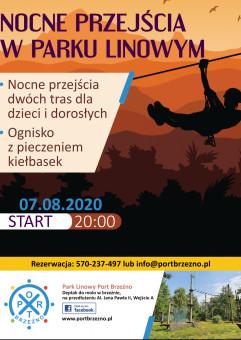 IV Edycja Nocnego Przejścia po Parku Linowym