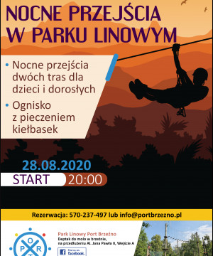"""V Edycja Nocnego Przejścia po Parku Linowym """"Port Brzeźno"""""""