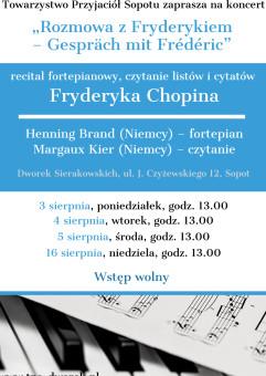 Rozmowa z Fryderykiem - recital