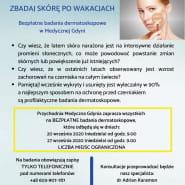 Zbadbaj skórę po wakacjach - badania w Medycznej Gdyni