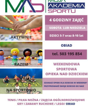 Weekendowa sportowa opieka nad dzieckiem