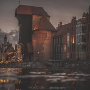 Gdańsk z Kajaka nocą