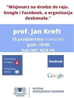 O Google i Facebooku na WZiE - wykład