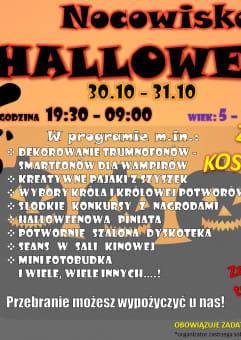 Nocowisko Halloween Zabawa u Rodziny Addamsów