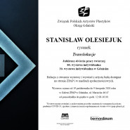 """Stanisław Olesiejuk - Jubileuszowa Wystawa """"Translokacje"""""""