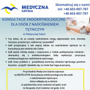 Bezpłatne konsultacje endokrynologiczne dla osób z nadciśnieniem tętniczym.