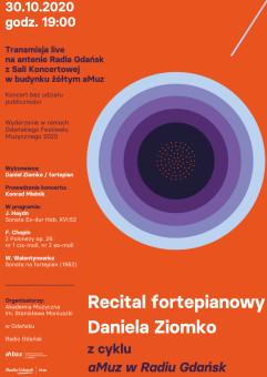 Recital fortepianowy Daniela Ziomko z cyklu aMuz w Radiu Gdańsk