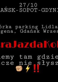 #Ostrajazdakobiet Gdańsk - Sopot - Gdynia protest samochodowy