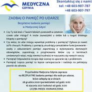 Zadbaj o pamięć po udarze. Bezpłatne badania pamięci w Medycznej Gdyni