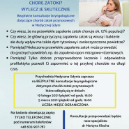 Konsultacje laryngologiczne dotyczące chorób zatok przynosowych.
