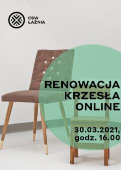Premiera warsztatu online - renowacja krzesła online