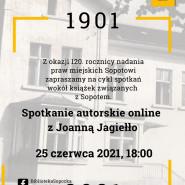 Spotkanie autorskie z Joanną Jagiełło