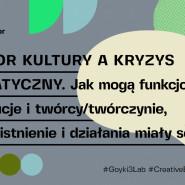 Sektor kultury a kryzys klimatyczny. Debata #Goyki3Lab