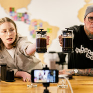 French Press Cupping