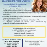 Bezpłatne badania dermatoskopowe w Medycznej Gdyni