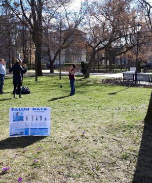 Qigong Falun Dafa w Parku w Sopocie