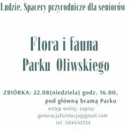 Spacery przyrodnicze dla Seniorów: Flora i Fauna Parku Oliwskiego