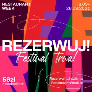 Restaurant Week - Trójmiasto, 8 - 26 września 2021