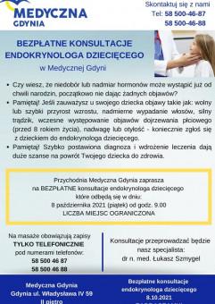 Bezpłatne konsultacje endokrynologa dziecięcego w Medycznej Gdyni