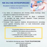 Bezpłatne badania densytometryczne w Medycznej Gdyni