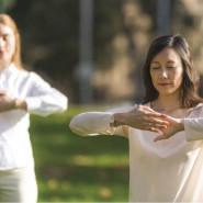 Qigong Falun Dafa w Parku Nad Strzyżą