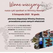 Winne wieczory - degustacja win polskich