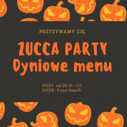 Zucca Party - dyniowe menu pizzy
