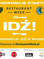 3 kody na rezerwację stolików podczas Restaurant Week