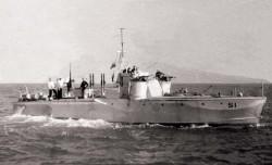 Ścigacz S-1, którym na jednym z etapów swojej kariery dowodził kapitan Jaraczewski.