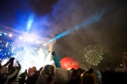 Światełko do nieba w centrum Gdańska na podczas finał XXI WOŚP.