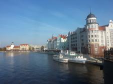 Kaliningrad jest podobny do Gdańska. Na zdjęciu Pregoła, odpowiednik naszej Motławy.