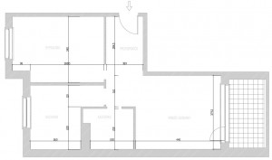 Aktualny podział funkcjonalny mieszkania