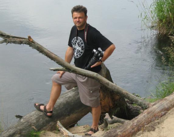 Adam Hlebowicz podczas jednej ze swych wypraw.