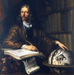 Jan Heweliusz - obraz Daniela Schultza z 1677 roku pochodzi ze zbiorów gdańskiego PAN.