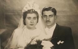 Zdjęcie ślubne Jadwigi i Mieczysława Parczyńskich.