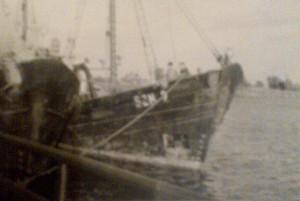"""""""Mazurek"""" w 1963 r., tuż przed wypłynięciem w ostatni rejs."""