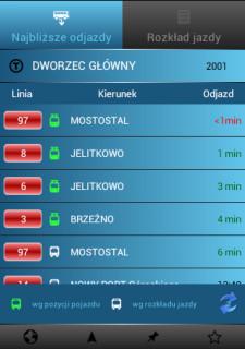 W aplikacji My Bus Online można sprawdzać na bieżąco czas przyjazdu tramwajów i autobusów ZKM Gdańsk, a od najnowszej wersji także ich lokalizację na mapie.