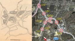 Z lewej plan linii tramwajowej na Morenę z 1978 roku, z prawej obecny.