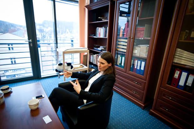 Agnieszka Pomaska w swoim biurze w Gdańsku Wrzeszczu