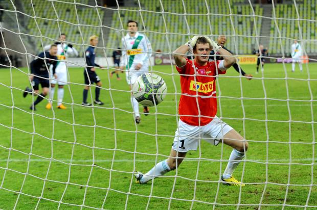 Michał Buchalik chwilę po tym, gdy Edi Andradina z karnego ustalił wynik spotkania w doliczonym czasie gry.