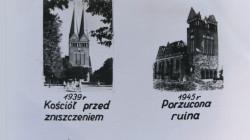 Kościół Wniebowstąpienia w 1939 i 1945 roku.